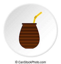 Chimarrao for mate or terere icon circle - Chimarrao for...