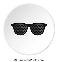 Bifocals icon circle - Bifocals icon in flat circle isolated...