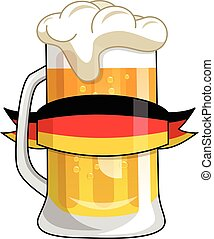 German beer mug isolated