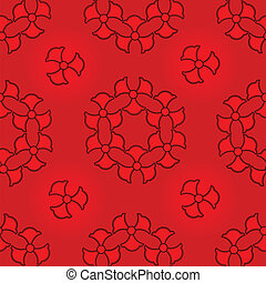 Abstract red seamless pattern.