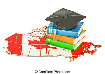 Education in Canada concept, 3D rendering isolated on white...
