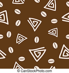 Seamless coffee pattern 2. - Seamless coffee pattern. Vector...