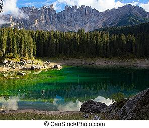 Lago di Carezza at the italian Dolomites