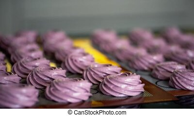 Cream of bilberry for cooking dessert are baked on the...