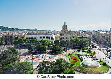 Square Catalunia, Spain - Plaza Catalunia famous square of...