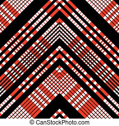 Seamless Tartan Pattern. Vector Black and Red Background