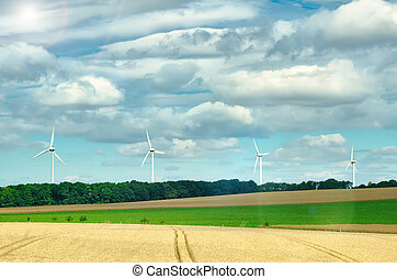 windmills - a lot of windmills in the field