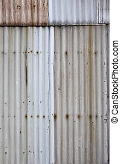 Corrugated iron background - Ugly corrugated iron metal...