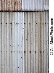 Corrugated iron background - Ugly corrugated iron metal...