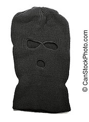 Balaclava - A Black ski mask aka Balaclava isolated on white...