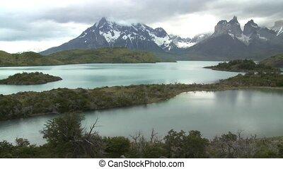 Torres del Paine National Park in Chile - Landscape of...