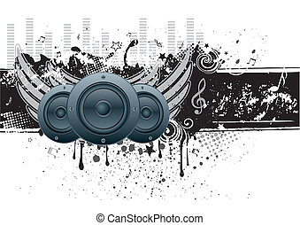 music vector background - vector illustration of musical...