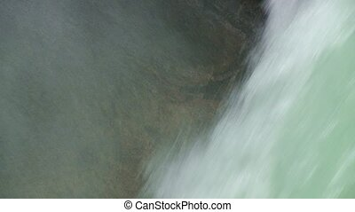 Waterfall in Torres del Paine National Park, Chile. Zoom...