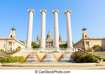 Square of Spain, Barcelona - Square of Spain - facade of...