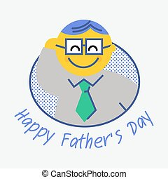 Happy Fathers Day. Fathers day greeting card. All in a...