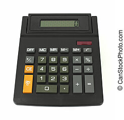 Electronic calculator - A used electronic calculator on a...