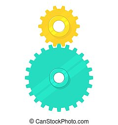 Cogged gears icon, cartoon style - Cogged gears icon....