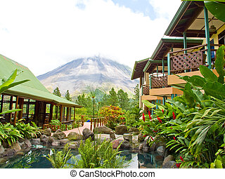 Tropical Oasis - Tropical gardens at the base of the arenal...