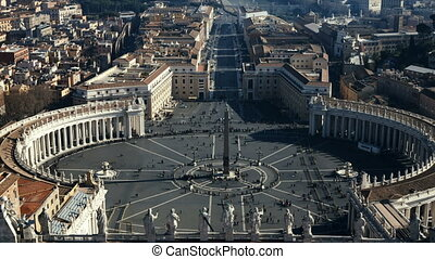 Stop motion video of the Saint Peter's square, view from the...