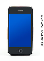 Smartphone with blue screen - Smartphone with a blue screen...