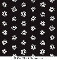 Vector seamless sunburst shapes freehand pattern. Abstract...