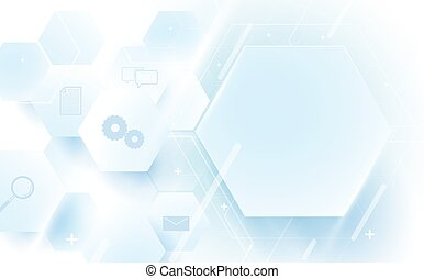 Abstract geometric, lines, hexagonal technology digital hi tech and icons concept background
