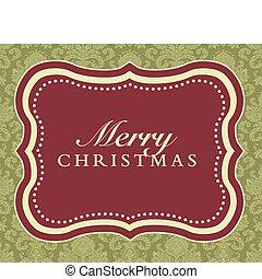 Vector Ornate Merry Christmas Frame