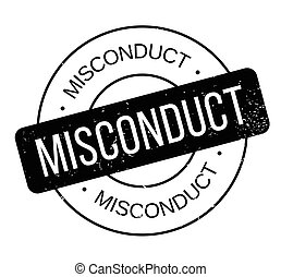 Misconduct rubber stamp. Grunge design with dust scratches....