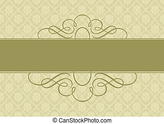 Vector Ornate Gold Background - Detailed Christmas or...