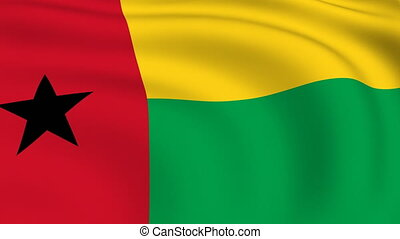 Flying Flag of GUINEA | LOOPED |