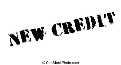 New Credit rubber stamp