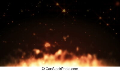fire place abstract particle