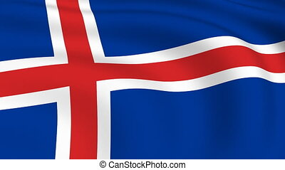 Flying Flag of ICELAND | LOOPED |