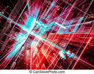 Abstract glass room - digitally generated image - Abstract...