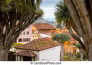 La Orotava, Tenerife, Canary Islands - La Orotava town view,...