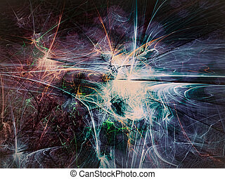 Abstract colourful background - digitally generated image -...