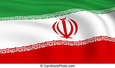 Flying Flag of IRAN | LOOPED |