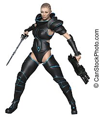 Science Fiction Warrior Priestess
