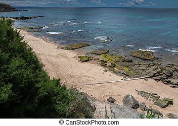 Frades beach in Peniche, Portugal. - Frades beach in...