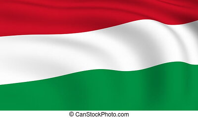 Flying Flag of HUNGARY | LOOPED |