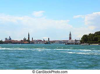 island of Venice with the Adriatic sea - Panorama of the...