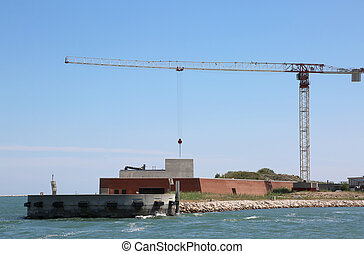 Big building called Mose is a project to protect Venice in...