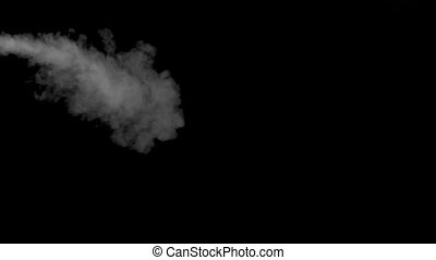 Smoke of electronic cigarette on black background