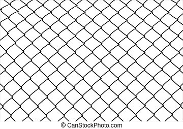 isolated wired fence