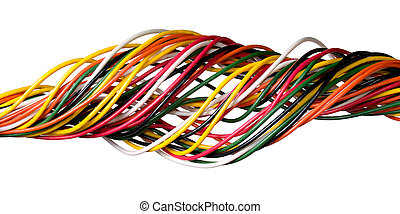 Wire. - Variegated wire isolated on white background.