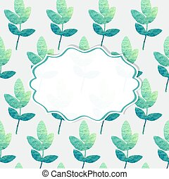 Frame with nature pattern - Frame on a background with...