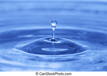 blue drop water background