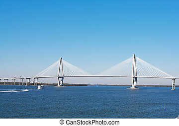 Arthur Ravenel Bridge in Charleston (also known as Cooper...