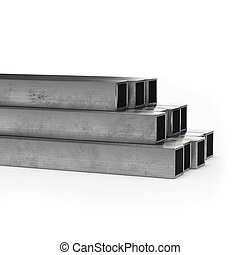Stainless steel tube 3d rendering isolated.