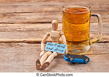 Do not drink and drive concept.